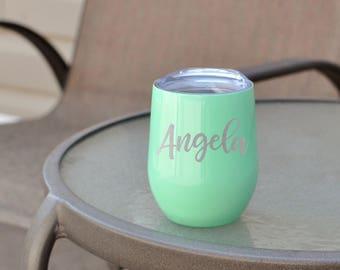 Swig Wine Glass - Monogram Swig - Swig Wine Tumbler - Stainless Wine Glass - Swig Cup - Wine Tumbler - Engraved Swig - Christmas Gift
