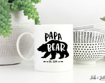 Papa Bear Mug - Gift for Dad - Father's Day Gift - Birthday Gift for Dad - New Dad Gift - Typography Mug - Gift for Him - Coffee Cup