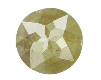 6.20 MM 0.95 Ct Natural Loose Diamond Rose Cut Round Shape Fancy Color N3505