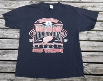Vintage 1997 Detroit Red Wings Western Conference Champions Logo 7 t-shirt Made in USA XL