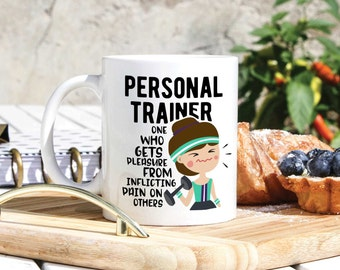 Personal Trainer Mug - Personal Trainer Gifts - Athletic Trainer Gifts - Gym Mug - Funny Trainer Mug - Coach Mug - Gift For Personal Trainer