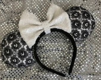 The Nightmare Before Christmas Jack Skellington & Zero inspired Minnie / Mickey Mouse Ears