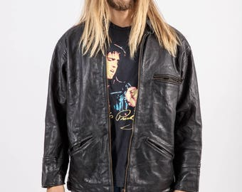 Vintage 80s Jackson Black Biker Jacket