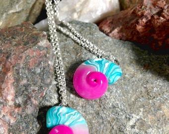 Cute Ammonite Swirl Shells ~ Handmade Polymer Clay Jewelry/Keychain/Gift