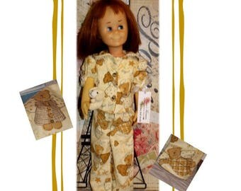 "Charmin Cathy doll not included. Heirloom Collection. Angel Bear Pajamas. Fits dolls the size of the 24"" Tall Vintage Charmin Chatty Cathy"