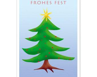 Christmas card: Fir tree
