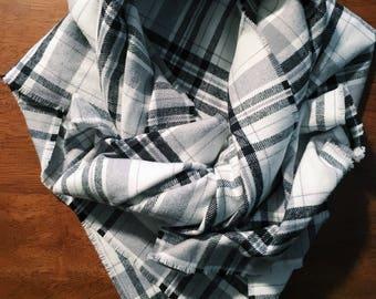 Plaid Cozy Blanket Scarf