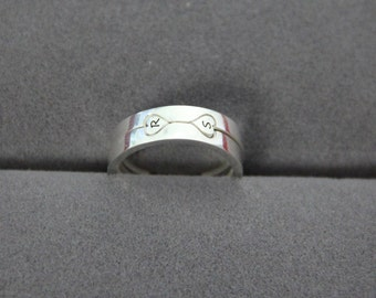 Two-Hearts as One Stackable Ring - R + S