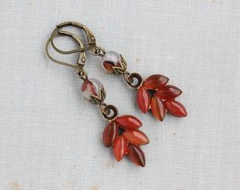 Carnelian Earrings. Gemstone Earrings. Pink Dangle Earrings