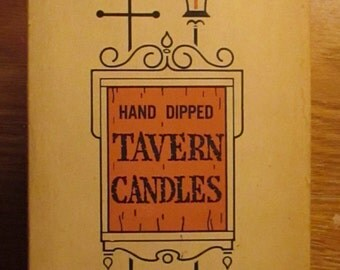 Vintage Boxed Set Candles Creamy White Hand Dipped Tavern Candles Tapers Candlesticks Candlelight Dinners YourFineHouse ShipsInternationally