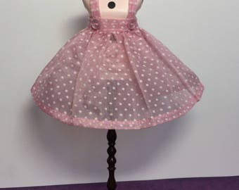 Rosiee Gelutie Pinafore in vintage dotted swiss fabric (dress sold separately)