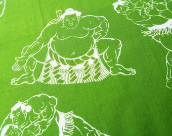 Japanese sumo wrapping cloth fabric, Sumo wrestler Japanese hankerchief green cotton fabric, martial arts fabric, wrestling gifts