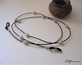 Eyeglass Lanyard Loop/Marble Beads/Thin Eyeglass Necklace/Glasses Cord/Eyeglass Chain/Spectacles Necklace/Eyeglasses/Sunglasses Cord/Eyewear
