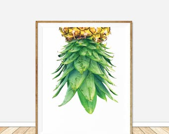 Pineapple Print, Pineapple, pineapple decor, Pineapple Wall Art, Tropical Art, Printable Pineapple, Printable wall art, Digital print