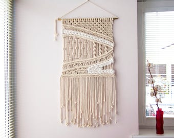 Large Macrame Wall Hanging, Macrame Wall Hanging, Macrame Wall Art, Woven Wall Hanging, Boho Wall Decor, Wall Tapestry, Woven Tapestry, Wool