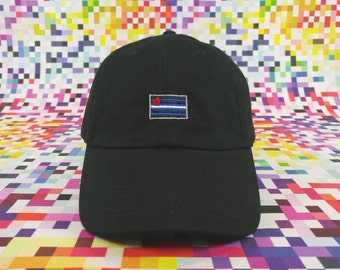 Leather Pride Flag Cap