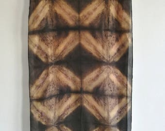 Burnt Cookies - 45 x 180 cm - Natural Dye Silk Scarf