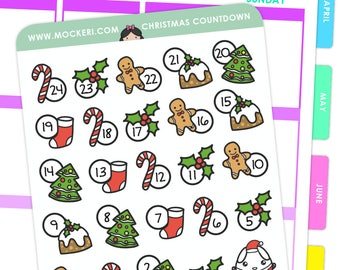Christmas Countdown / Planner Stickers