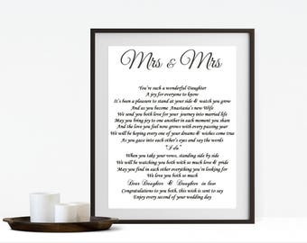 Daughter Wedding Gift, Daughter and Son in Law, Personalised wedding gift, Gift for Daughter and husband, Daughter wedding gift