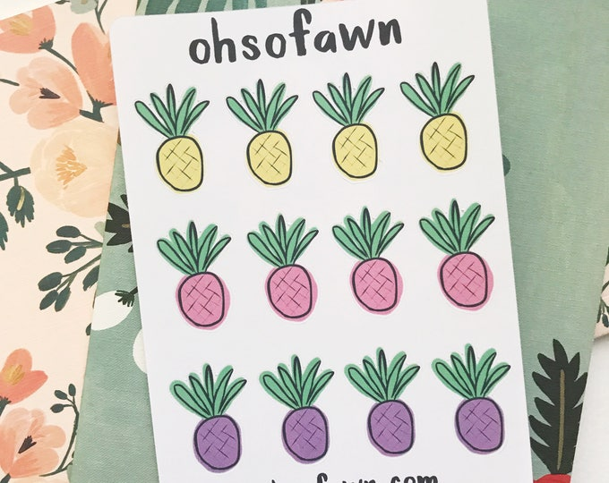 Hand Drawn Pineapple Stickers