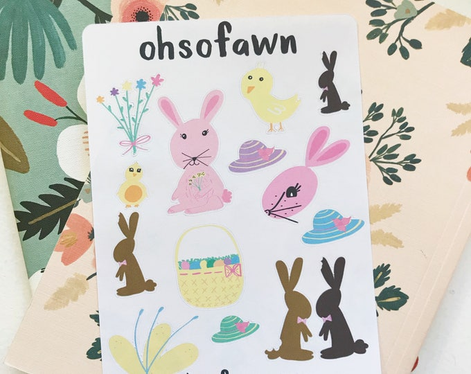 Easter Hand Drawn Stickers