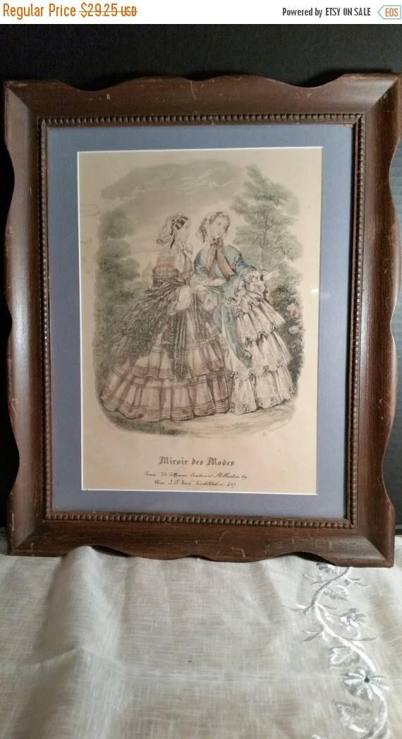 Sale clearance miroir des modes victorian print vintage french for Miroir des modes prints