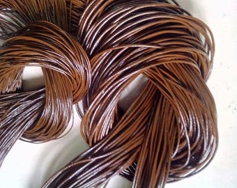 Chocolate Dark Brown Leather Cord 1mm genuine Indian leather