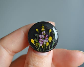 Valentines day gift. Brooch. Broach. Jewelery. Terrarium jewelry. a gift for her. Nature jewelry. Botanical jewelry. Boho. Resin jewelry.