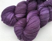 Hand dyed yarn New merino fingering -'Grape juice'