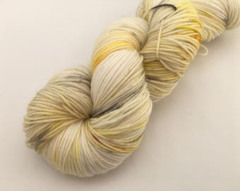 Hand dyed yarn Victoria sock -'Sunshine and Silver'