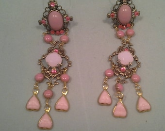 long chandelier earrings (VICTORIA)