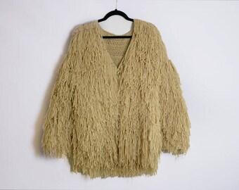 Crochet Shaggy Oversized Coat
