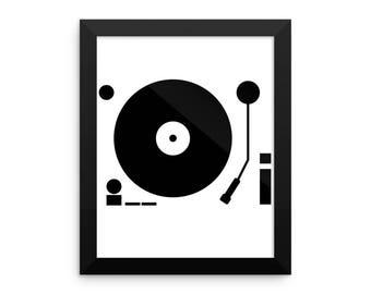 vinyl turntable Framed photo paper poster