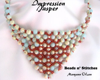 Impression Jasper Bandana Necklace