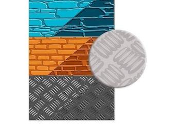 Textured stone brick steel plate