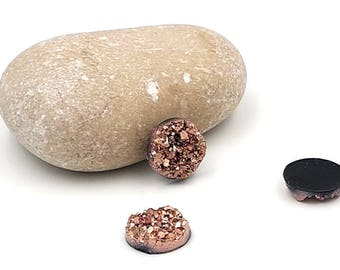 20 cabochons 12mm Champagne colored Druzy