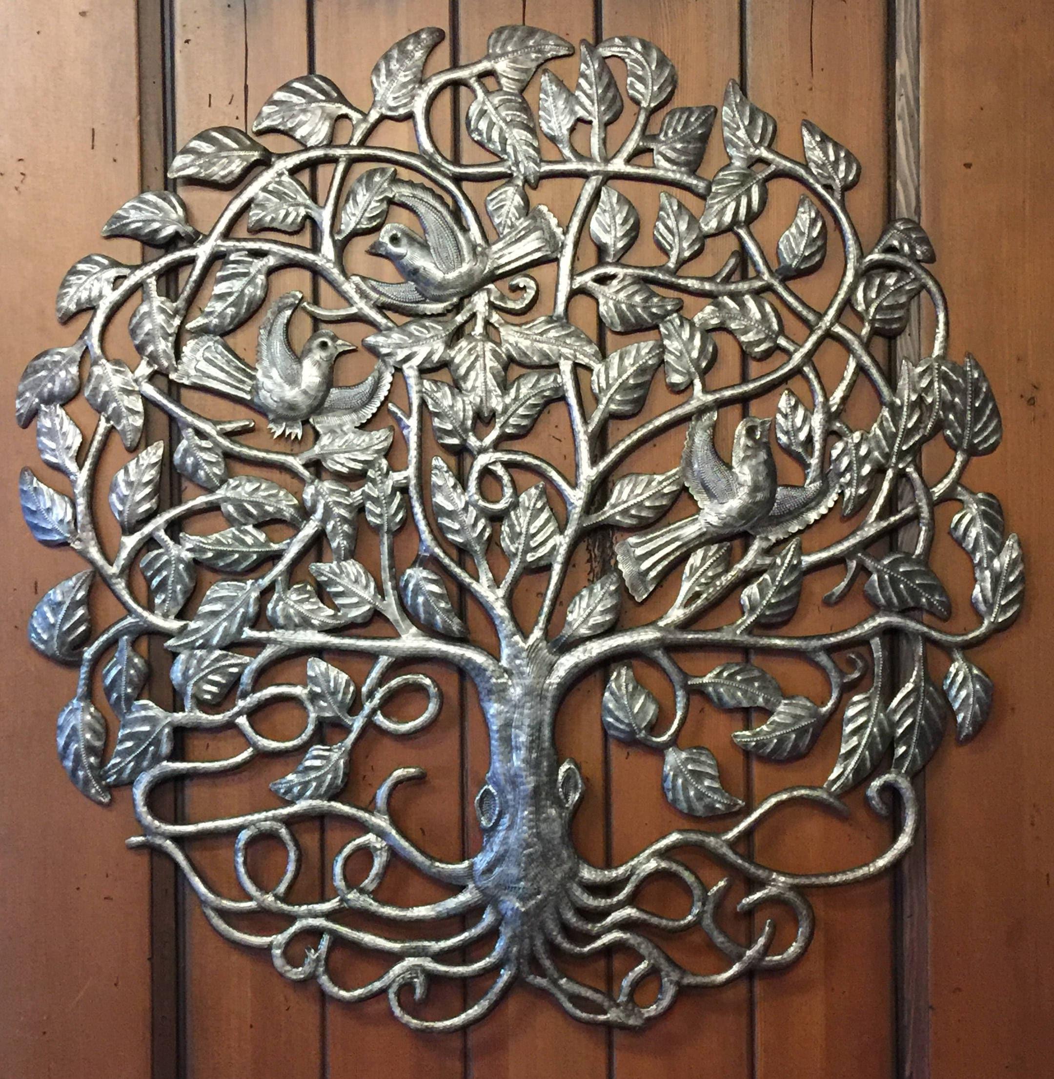 Large Tree of Life by Julio Balan Metal Wall Art Fair trade