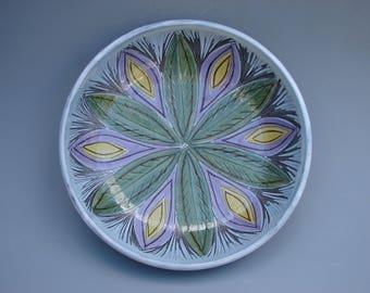 Laholm Sweden bowl Mid century modern Swedish art pottery plate
