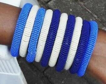 3 Maasai Bracelet , Trendy , multi colored beaded bracelet, Native American art/south Africa style