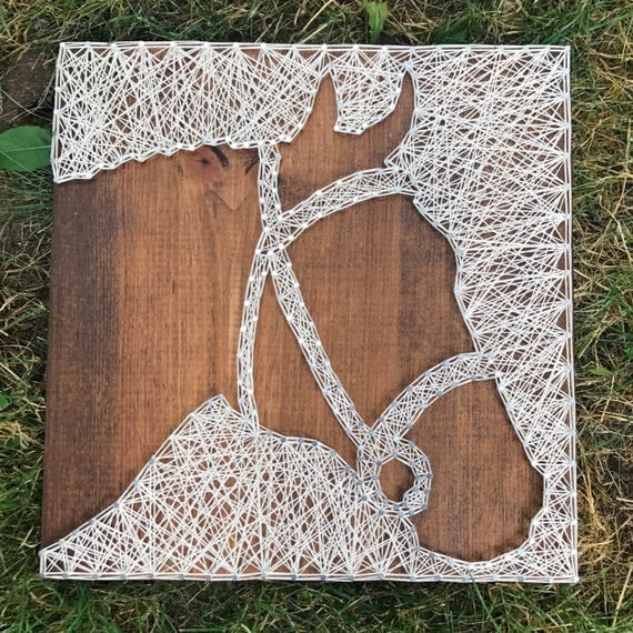 made to order horse head string art. Black Bedroom Furniture Sets. Home Design Ideas