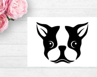 Boston Terrier Decal   Boston Decal   Car Decal   Laptop Decal   Window Decal   tablet Decal   Notebook Decal   Vinyl   Boston Terrier Yeti