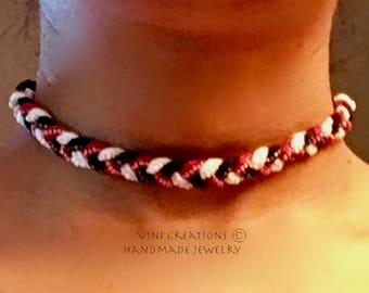 CHOKER - Exotic Beaded Braided Choker Necklace - unique gifts for teen girls - best friend necklace