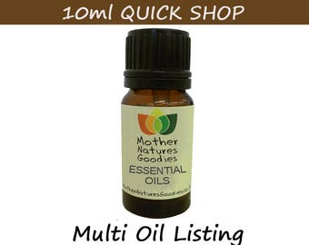 Essential Oil  10 ml  ( Choose from 80 Oils) Pure Natural Aromatherapy
