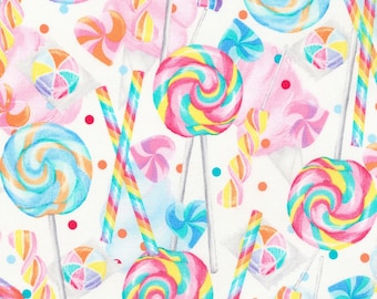 Lollipops Fabric Sugar Mania Timeless Treasures Candy Treats Sweets Cotton Fabric