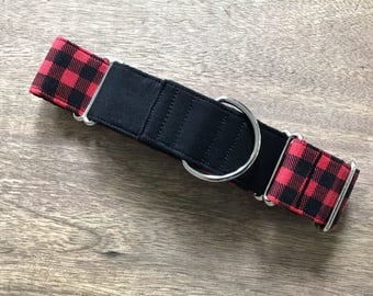 Martingale Dog Collar, Two Tone Martingale, Plaid Martingale, Boy Dog Collar, Dog Collar, Dog Collars, Male Dog Collar