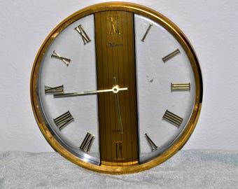 Marcel Brass Ring Clock