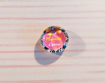 20 mm - nice Grandma love glass cabochon