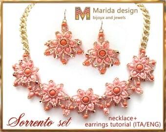 "Tutorial 2 in 1 ""Sorrento"" (necklace + earrings)"
