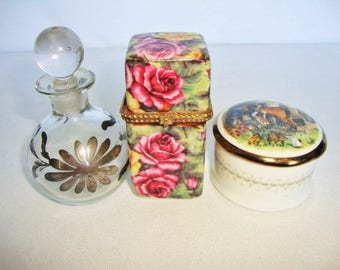 Vanity, Pin Box, Perfume Bottle,and Trinket Box,Scent Bottle, Fragrance Bottle, Gift