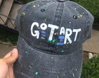 Got art black acid wash hat